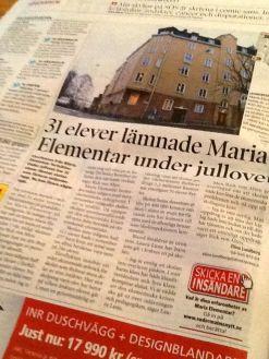 Södermalmsnytt 2:2013 om Maria Elementar