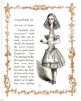Juvenile - Illustration - Alice in Wonderland - Curiouser tall Alice