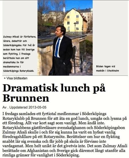 Dramatisk lunch på Brunnen FB 5.5 2013
