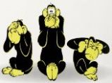 Tre apor