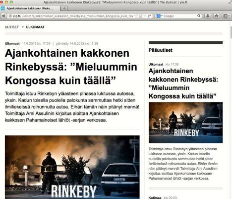 Ajankohtainen kakkonen Rinkebyssä