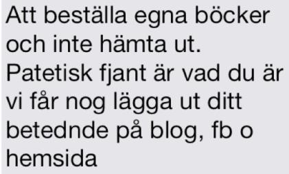 Sms från Hedengrens 13 december 2013