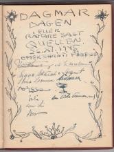 En sida ur gästboken 8, 26 november 1945