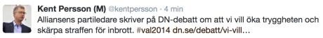 Kent Persson, M, 23 juni kl 0.15