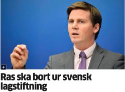 Ras ska bort ur svensk lagstiftning