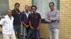Eritreanska asylsökande på Blinkarp