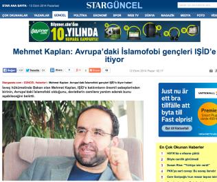 Kaplan i StarGüncel  12.10 2014