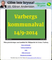 Göran Andersson, MP