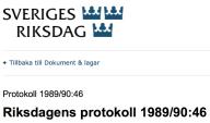 Riksdagens protokoll 1989 90 46