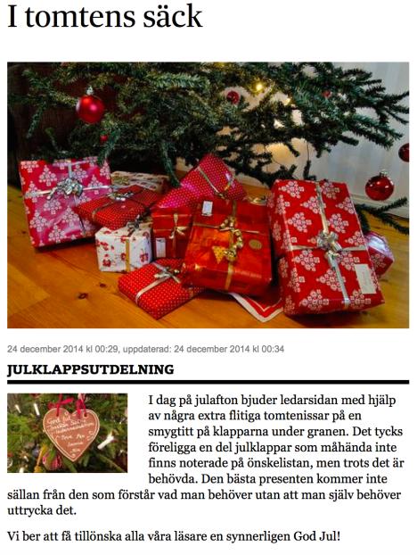 I tomtens säck SvD 24.12 2014