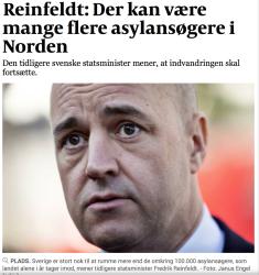 Reinfeldt i Politiken 6 december 2014