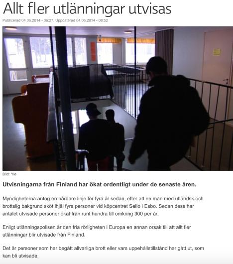 Allt fler utlänningar utvisas Yle 4.6 2014