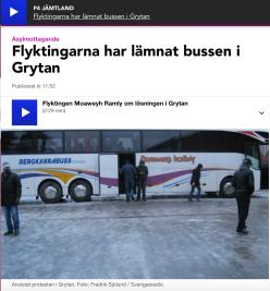 Flyktingarna har lämnat bussen
