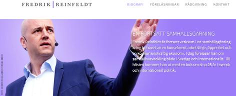Fredrik reinfeldts hemsida