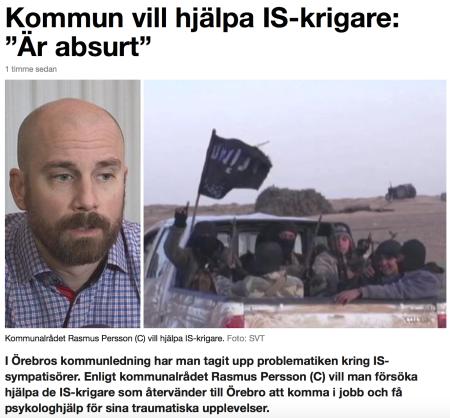 Kommun vill hjälpa IS-krigare