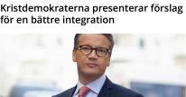 Kristdemokraterna om integration