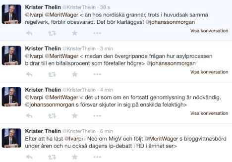 Krister Thelin om miggberättelserna 4 tweets