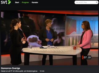 SVT Gomorron Sverige 29.1 2015