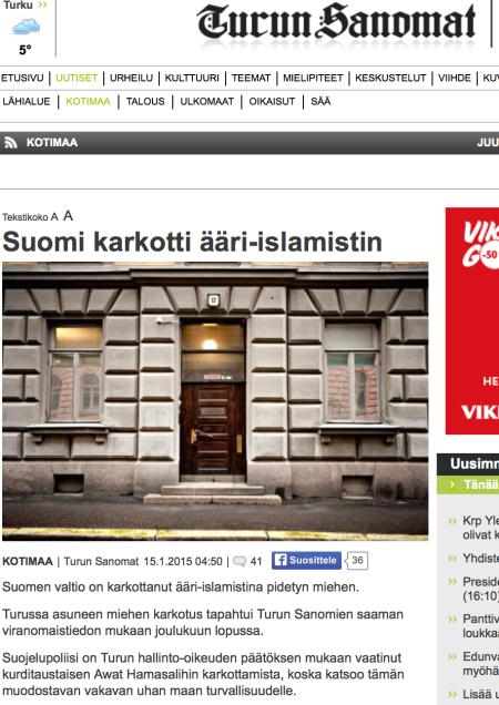 Turun Sanomat Suomi karkotti