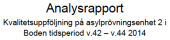 Analysrapport Boden v42-v44 2014