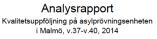 Analysrapport Malmö v37-v40 2014
