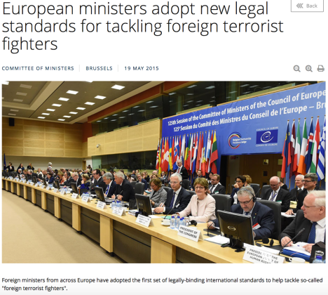 European ministers adopt new legal standards