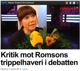Intervju med Åsa Romson Expressen 10.5 2015