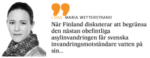 Wetterstrand om Finlands asylinvandring
