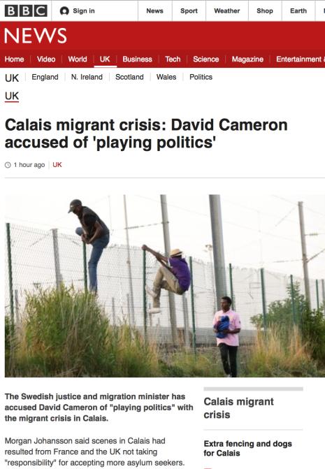 BBC om Morgan Johannsons uttalanden 2.8 2015