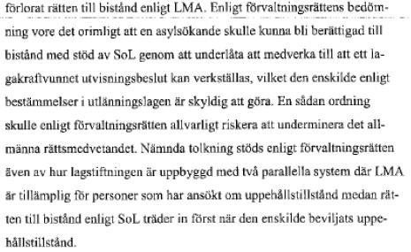 Mot bakgrund av Soc.styrelsens uttalanden 2