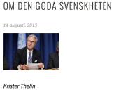 Om den goda svenskheten Krister Thelin