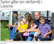 Syrier med vänfamilj i Larsmo