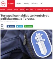 Asylsökande trängde sig in på polisstationen i Åbo