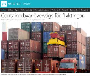 Containerbyar övervägs