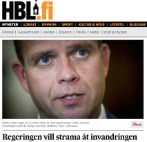 Finland regeringen vill strama åt