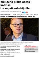 Juha Sipilä upplåter sin bostad