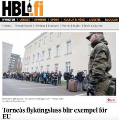 Torneå flyktingsluss blir exempel för EU