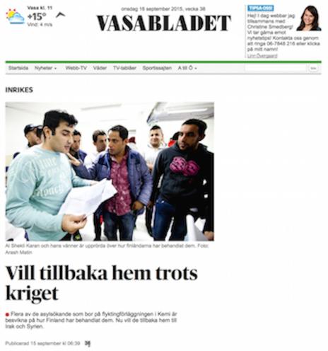 Vasabladet 15.9 2015