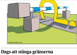Dags att stänga gränserna Hbl 15.10 2015 Nytte Ekman
