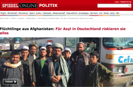 Flüchtlinge aus Afghanistan Spiegel online 14.10 2015
