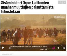 Laittomien maahanmuuttajien palauttamista