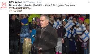 MTV Norjaan tulvii pakolaisia Venäjältä 29.10 2015