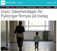 Orpo Säkerhetsläget för flyktingar förnyas på tisdag