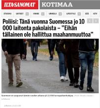 Poliisi Tänä vuonna Suomessa jo 10000 laitonta 13.10 2015