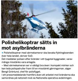 Polishelikoptrar asylboenden