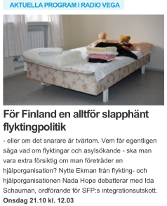 Radio Vega Nytte Ekman Ida Schauman 21.10 2015