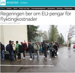 Regeringen ber om EU pengar 15.10 2015