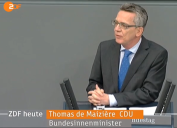 Thomas de Maizière Bundesinnenminister Tyskland
