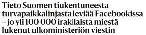 Tieto Suomen tiukentuneesta 23.10 2015 HS