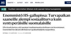 Turvapaikan saaneille alempi sosiaaliturva HS 21.10 2015